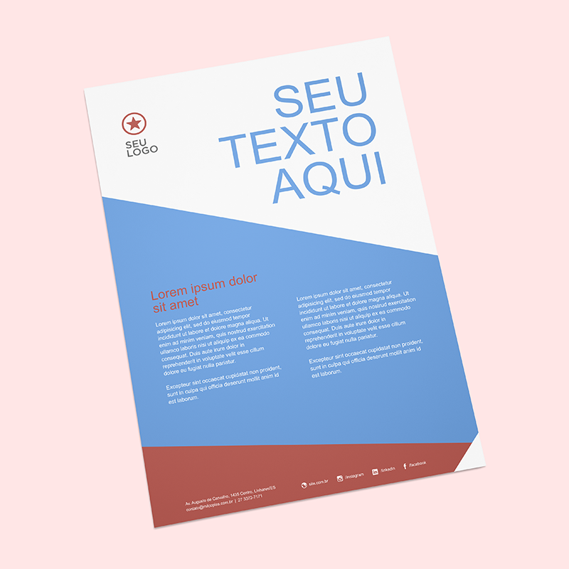 Template para download de Flyer - Gráfica Rápida