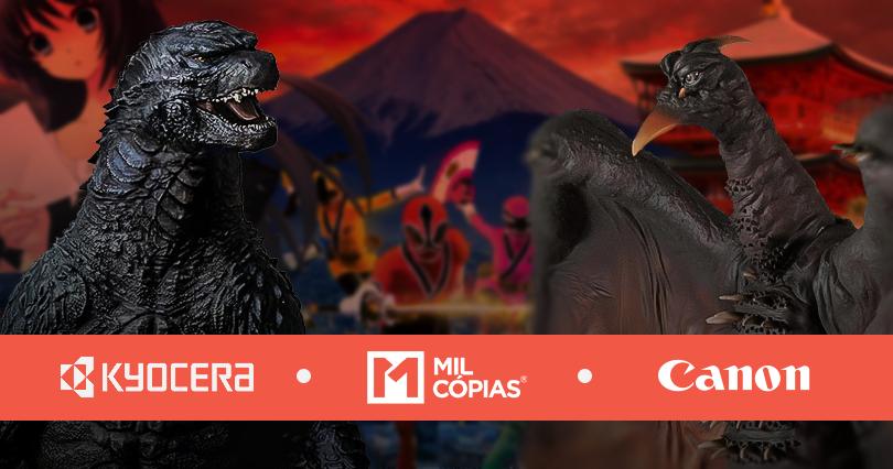 Godzilla monstros japão distribuidor oficial Kyocera Canon Plotter