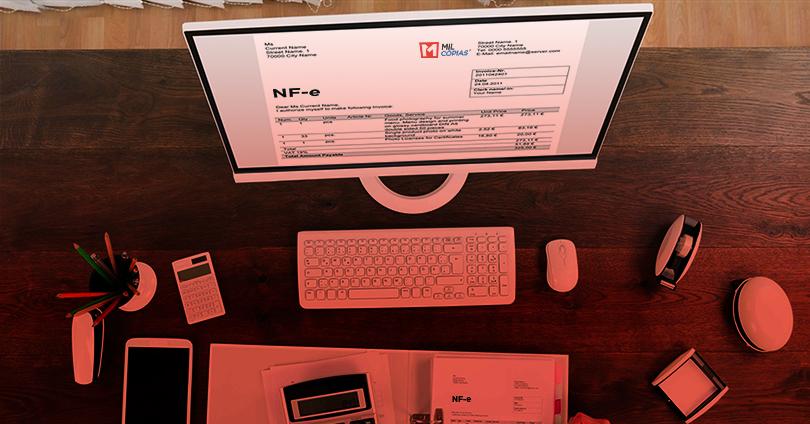 NF-e emissão nota fiscal eletrônica Mil Cópias